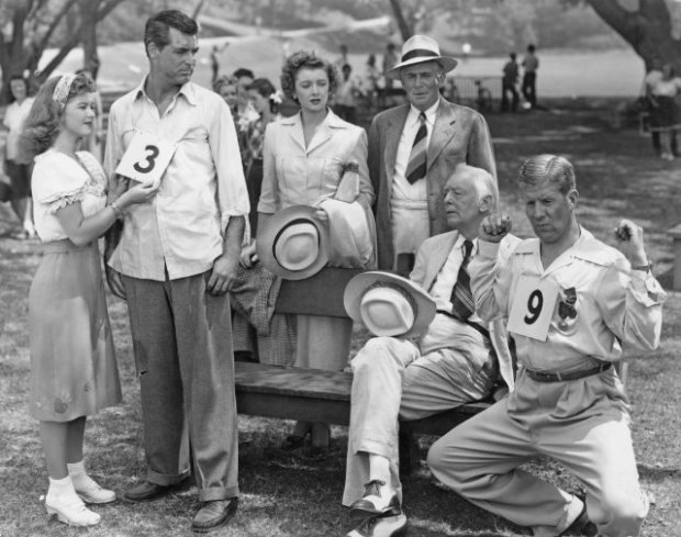 Shirley com Cary Grant e Myrna Loy