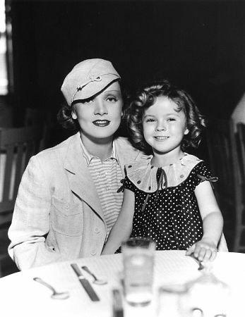 Shirley com Marlene Dietrich