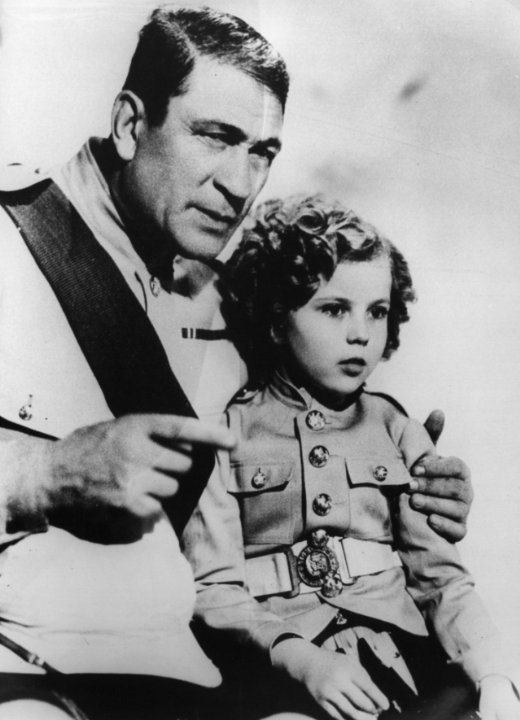 Shirley com Victor McLaglen Queridinha